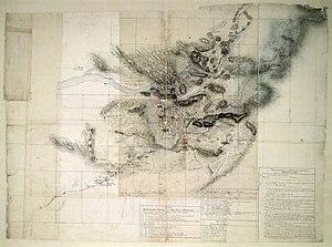 Vijayanagara - The earliest known map of Vijayanagara, published in 1820 by ASI