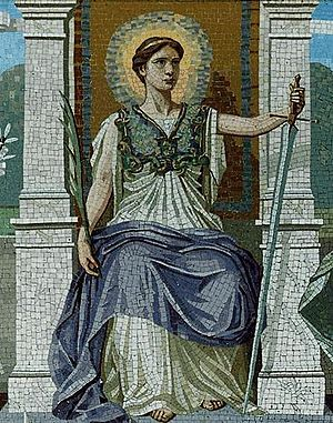 Rule of law - Image: A mosaic LAW by Frederick Dielman, 1847 1935