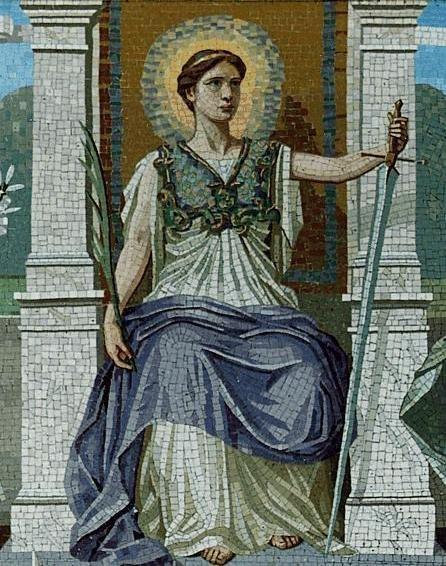 A mosaic LAW by Frederick Dielman, 1847-1935