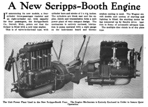 Scripps-Booth - A new Scripps-Booth engine described in the journal Horseless Age, 1916.
