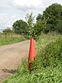 A new use for an old traffic cone - geograph.org.uk - 1448260.jpg