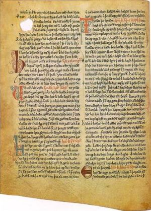 Linguistic purism in Icelandic - Image: A page of Heimskringla
