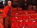 A seller of peppers - Sunday Market in Tetovo, Macedonia.jpg