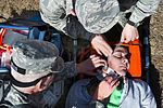 A simulated victim is given first aid by South Carolina's Air National Guard and State Guard first responders.jpg