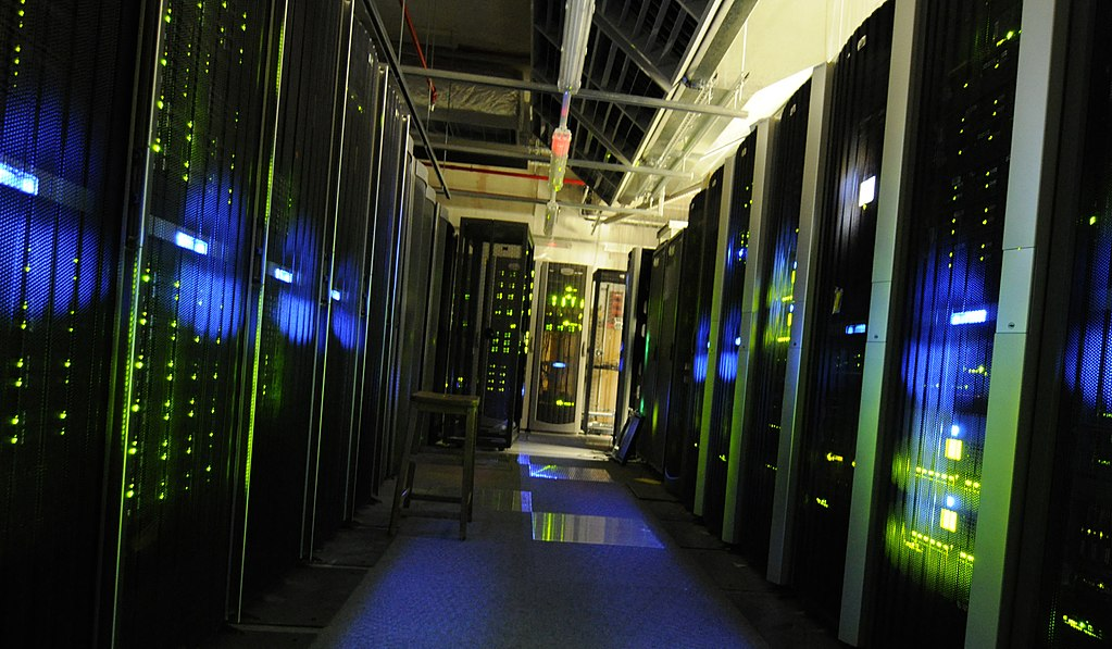 A view of the server room at The National Archives