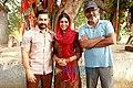 Aamir Khan, Sakshi Tanwar, Nitesh Tiwari on the sets of Dangal.jpg