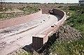 Aanleg Marin Luther Kingweg fietstunnel, achtergrond windmolen Tussen ongeveer de jaren 1960 en 1990 - RAA-DMGA-02085 - RAA Elsinga.jpg