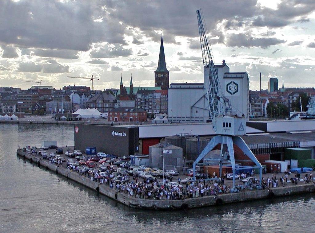 Aarhus people watching Oosterdam depart 1.jpg