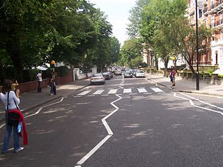 Abbey Road, London road in the borough of Camden and the City of Westminster in London