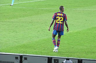 Éric Abidal - Abidal during the 2009 Club World Cup in Abu Dhabi.
