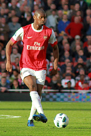 Abou Diaby - Diaby playing for Arsenal in 2010