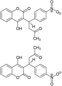 Acenocumarol Structural Formulae of both Enantiomers.png