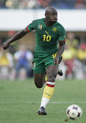 Achille Emaná - Emaná playing for Cameroon in 2009
