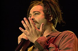 Adam Duritz op het Voodoo Festival in New Orleans op 3 november 2002