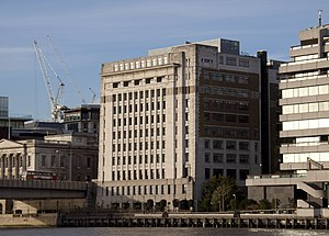 Adelaide House - Adelaide House, pictured from the south bank of the River Thames