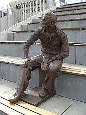 sports shoes 49a79 9bc54 Sculpture of Dassler in the Adi Dassler Stadium, Herzogenaurach, Germany.  Adidas ...