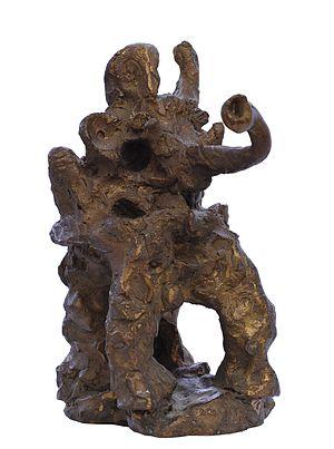 Adolf Bierbrauer - Adolf Bierbrauer,the elephantine tantrum, Bronze sculpture, 2002, Vol. 30