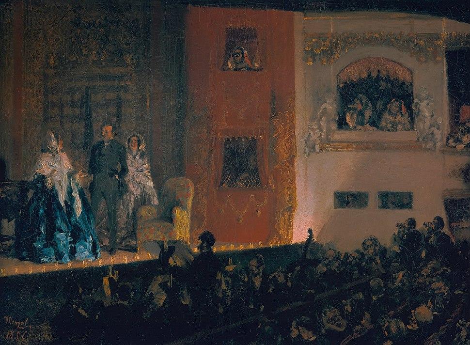 Adolph Menzel - Théâtre du Gymnase in Paris - Google Art Project