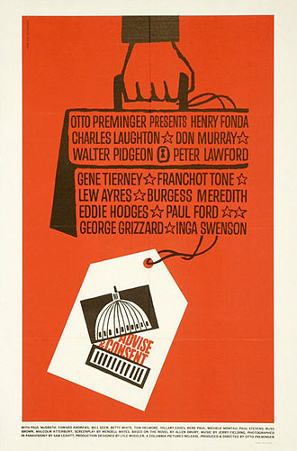Advise & Consent - Theatrical release poster by Saul Bass