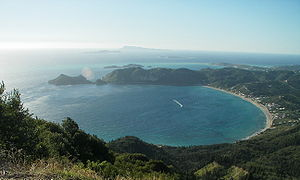 Corfu - Bay of Agios Georgios in northwestern Corfu