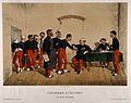 Ailing soldiers queuing up to see the doctor in a military s Wellcome V0016269.jpg