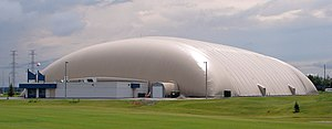 Air-supported structure - Air-supported dome used as a sports and recreation venue