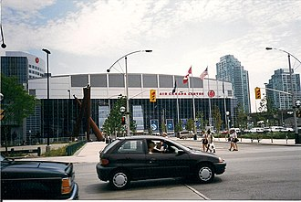 Scotiabank Arena - The Air Canada Centre in July 1999, several months after the arena was opened.
