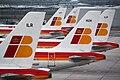 Airbus A319 et A320 Iberia Alignés - Aéroport de Madrid-Barajas.jpg