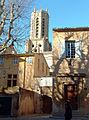 Aix-en-Provence - Entrée du cloître de la cathédrale sur la place de l'Archevêché.JPG