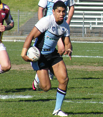 Albert Kelly - Kelly Playing for the Sharks in 2010