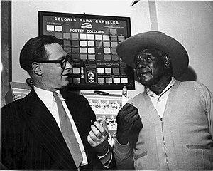 Contemporary Indigenous Australian art - Albert Namatjira, right, with portraitist William Dargie
