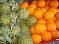 Alcachofas y naranjas de Torreblanca (Castellón).jpg