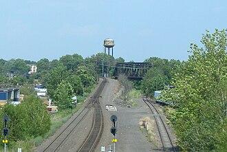 Aldene Connection - NJ Transit, Conrail, and former CNJ tracks meet at Aldene