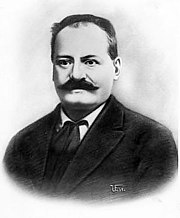 old photo of Alessandro Mussolini with mustache