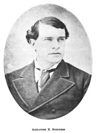 Alexander Robey Shepherd - Shepherd in 1874 when he was Governor of the District of Columbia