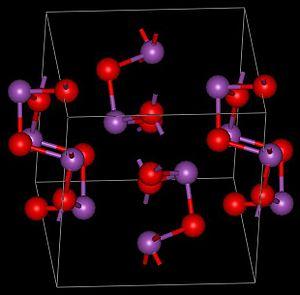 Bismuth(III) oxide - Image: Alfa Bi 2O3structure