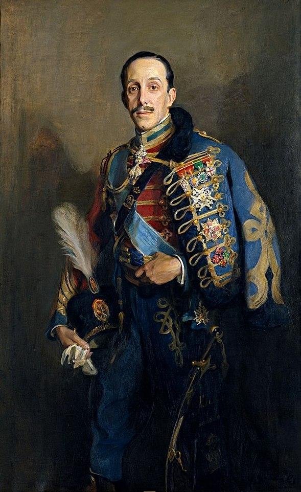 Alfonso XIII con uniforme de h%C3%BAsar (Museo Nacional Centro de Arte Reina Sof%C3%ADa)