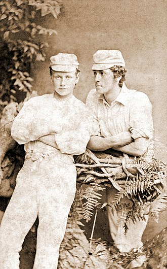 Alfred Lyttelton - Alfred (left) and his older brother Edward at Eton, circa 1872