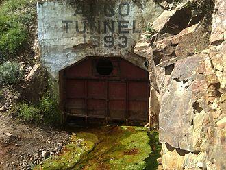 Argo Tunnel - Algae in water flowing from Argo Tunnel
