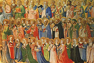 When the Saints Go Marching In - The Forerunners of Christ with Saints and Martyrs, a painting by Fra Angelico, 15th century.