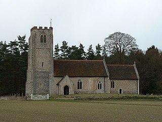 All Saints Church, West Harling Church in Norfolk, England