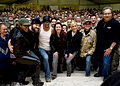 All together- Tichina Arnold, Zack Brown, Kid Rock, Kathleen Madigan, Kellie Pickler, John Bowman and Lewis Black.JPG