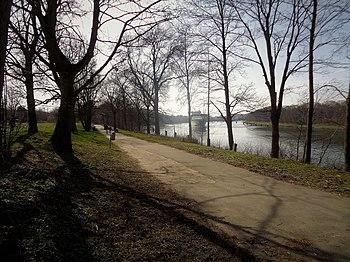 Am Kanal, Blickrichtung Westen
