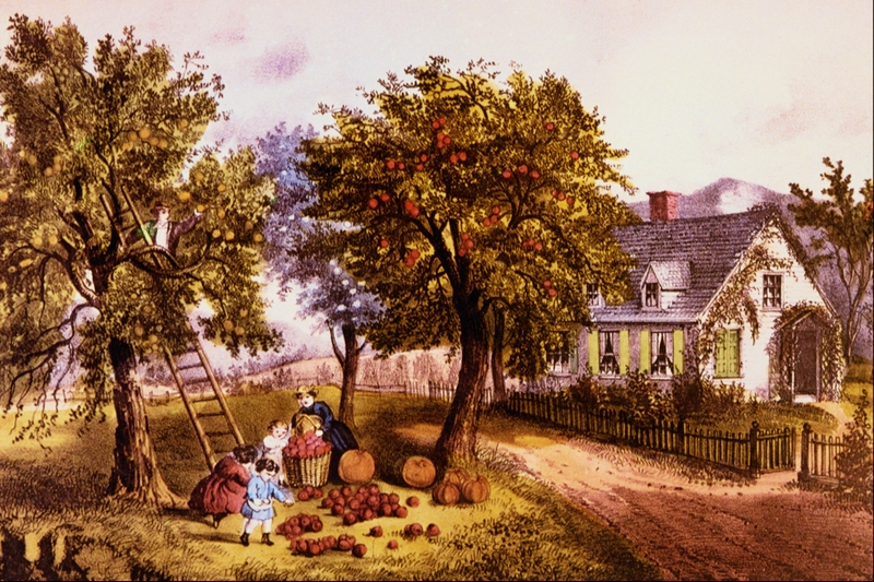 American Homestead Autumn - Currier and Ives