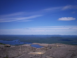 Ampersand Mountain - Image: Ampersand Mountain Middle Saranac Lake view