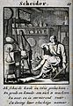 An elderly alchemist sitting next to his equipment. Engravin Wellcome V0025557.jpg
