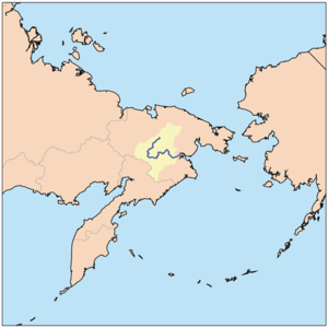 Anadyrsk - Anadyrsk was on the east-west part of the Anadyr River at the point where it swings north
