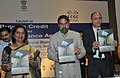 Anand Sharma launching a new Buyers Credit Scheme initiated under the National Export Insurance Accounts (NEIA) to promote project exports from India, in New Delhi on April 06, 2011.jpg