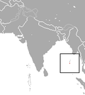 Aire de répartition du Crocidure de l'Ile Andaman