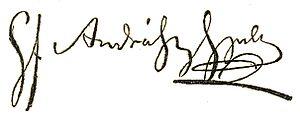 Gyula Andrássy - Image: Andrássy Gyula signature